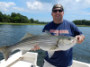Live bait produces big striper on the Merrimack