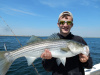 Live lined tinker mackerel catch stripers!