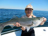 Plum Island striper caught by Sandy Maguire