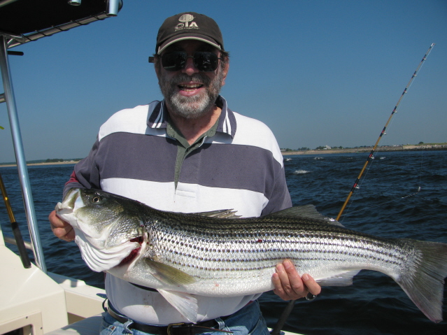 "Dick's personal best striper of 38""S! 8-13-09"