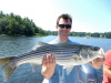 Merrimack River striper caught by Tim